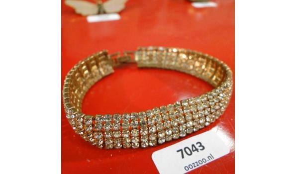 Doublé armband met Kristallen