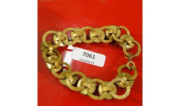 Bronzen armband met Natuurstenen