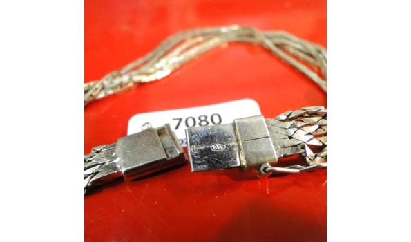 Zilveren armband 4-rijig