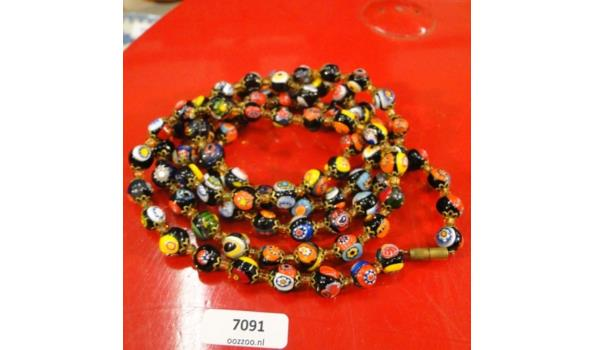 Murano glaskralen collier