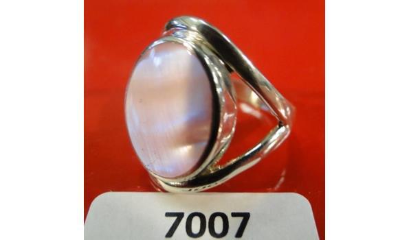Zilveren ring maat 55
