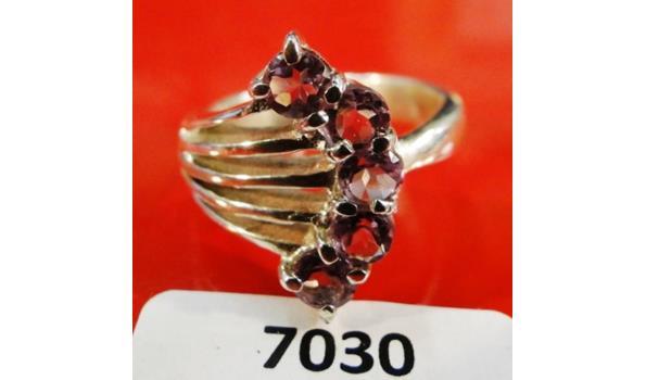 Zilveren ring maat 57