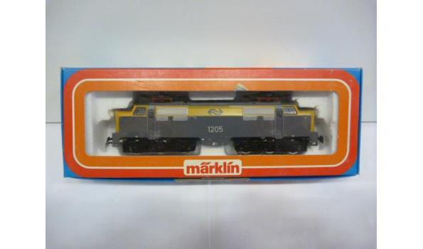 E-lok serie 1200 nr 1205 geel/grijs