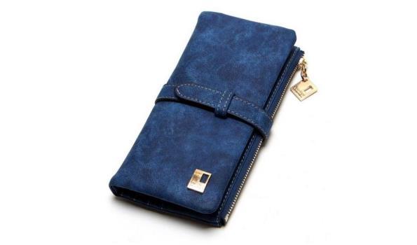 Dames portemonnee blauw