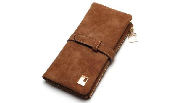 Dames portemonnee bruin