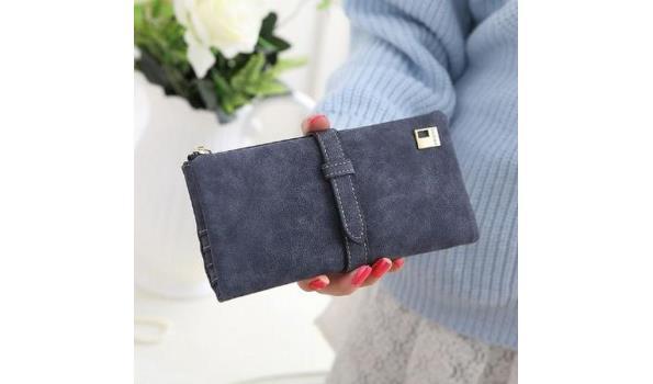 Dames portemonnee grijs