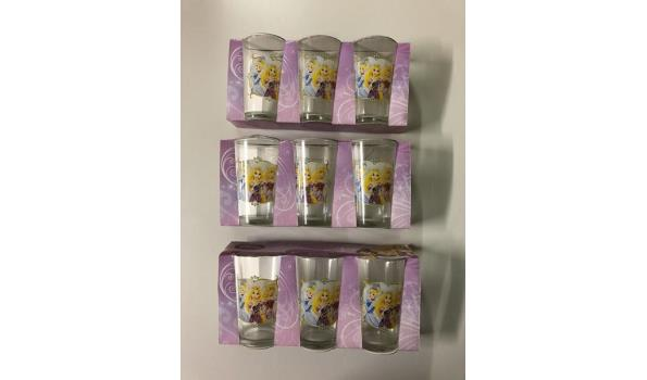 Disney Prinses glazen 9 stuks