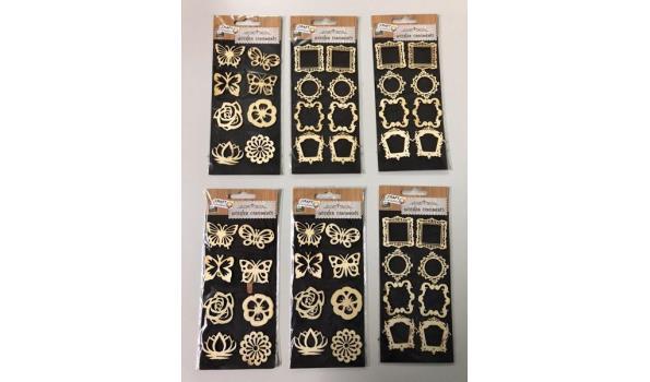 Houten knutsel ornamenten