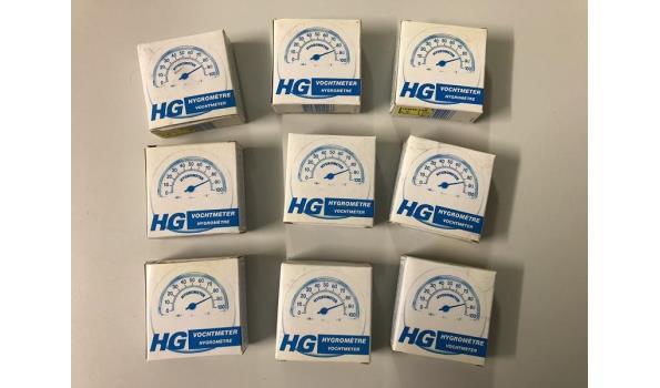 HG vochtmeters 9 stuks