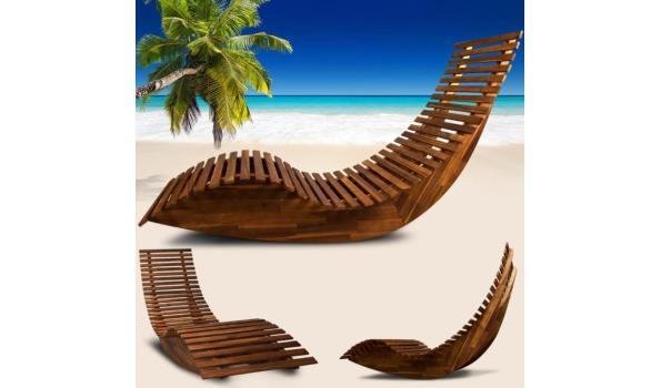 Ergonomische schommelstoel saunastoel gemaakt van acaciahout - FSC®-gecertificeerd  (1101845)