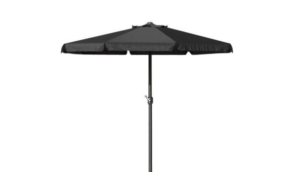 Parasol met slinger 350 cm - zwart  (1102487)