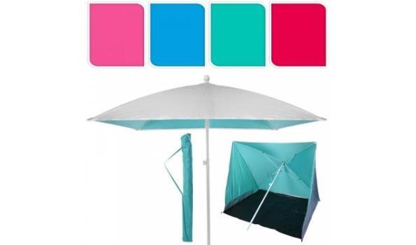 Parasol / strandtent afm 170 x 170 cm  (u krijgt 1 van de 4 kleuren)