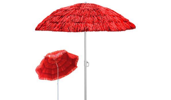 Parasol Ø 160 cm Hawaï rood  (1102504)