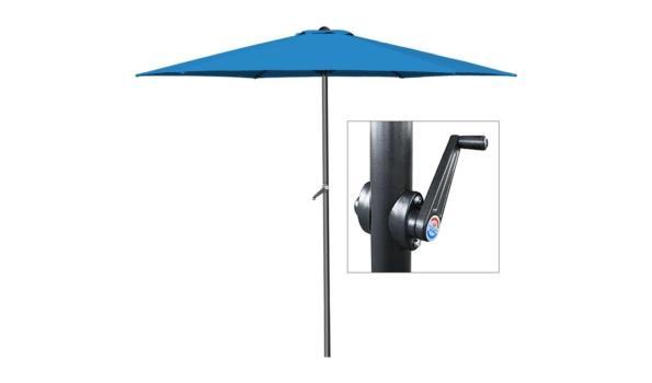 Alu parasol - Ø 300cm - met zwengel blauw (1102495)