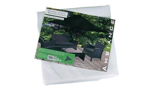 Driehoekige Schaduwdoek 350 cm kleur WIT