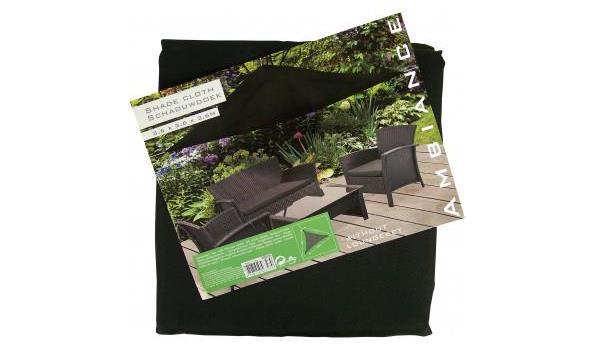 Driehoekige Schaduwdoek 350 cm kleur ZWART