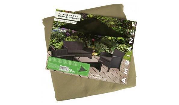 Driehoekige Schaduwdoek 350 cm kleur TAUPE