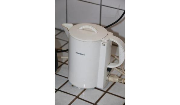 Koffiezet apparaat en waterkoker