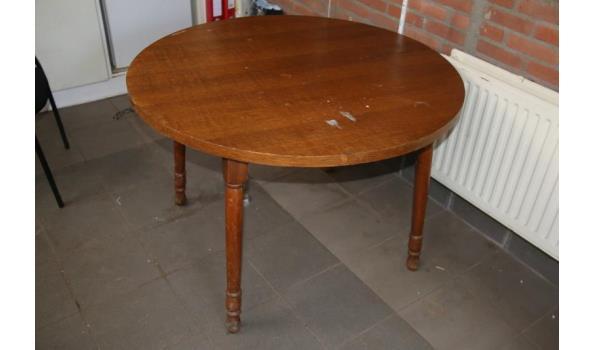 Ronde houten tafel - ⌀109x73cm