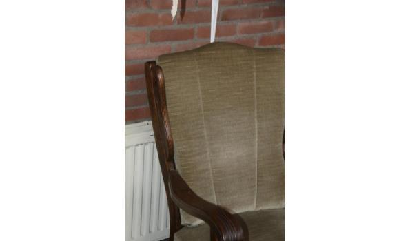 Vintage stoel met houten onderstel
