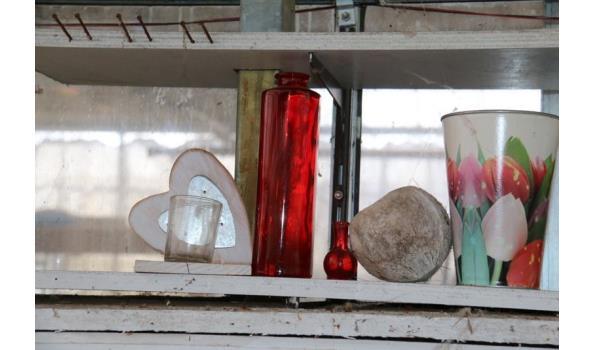 Diverse decoratie o.a. glazen theelichten