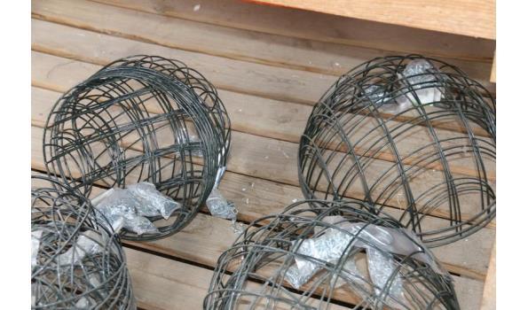 Partij metalen hanging baskets