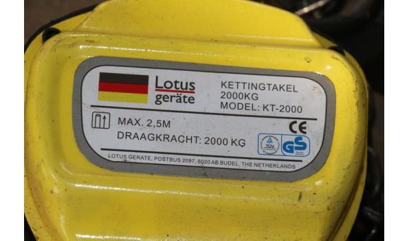 Lotus geräte kettingtakel - model KT-2000