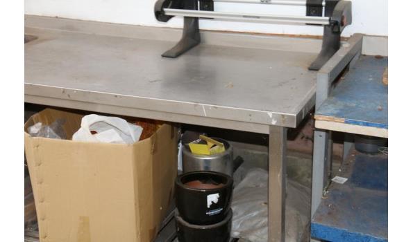 RVS werktafel met gootsteen - 300x70x90cm