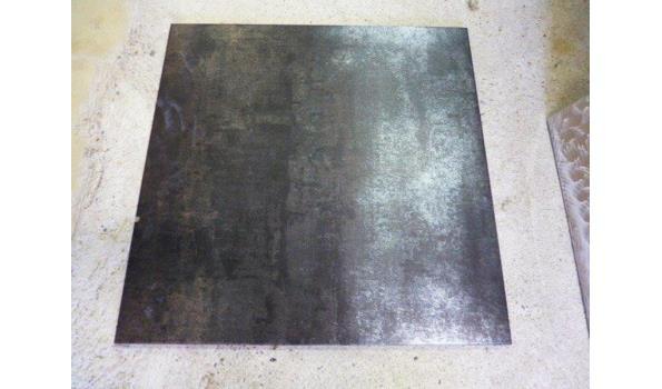 Vloertegels Tau Corten B black 60x60cm