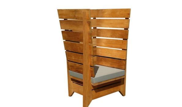Hardhouten lounge stoel design Monaco