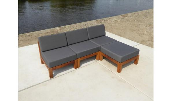 Hardhouten lounge stoel design Long Island