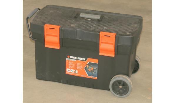 Voorkeur Black & Decker gereedschapskist met wielen en inhoud - 64,5x35x41 YK76