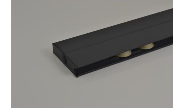 Tuinkamer schuifdeur systeem set 2900 mm RAL 9001 creme wit