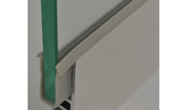 Tuinkamer schuifdeur systeem set 3900 mm RAL 9001 creme wit