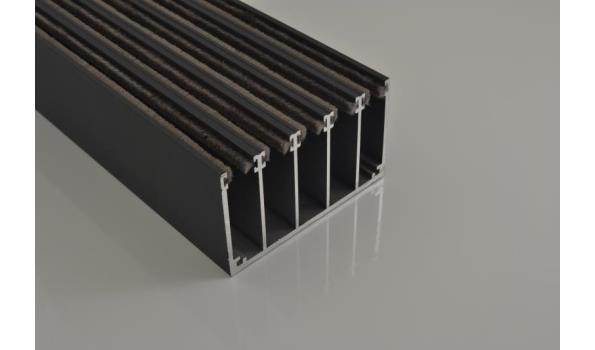 Tuinkamer schuifdeur systeem set 3900 mm RAL 9016 wit