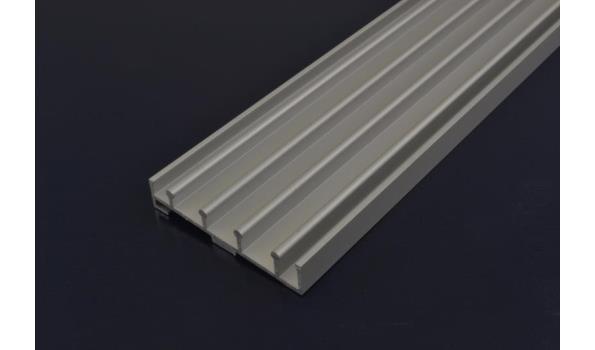 Tuinkamer schuifdeur systeem set 5900 mm RAL 9016 wit
