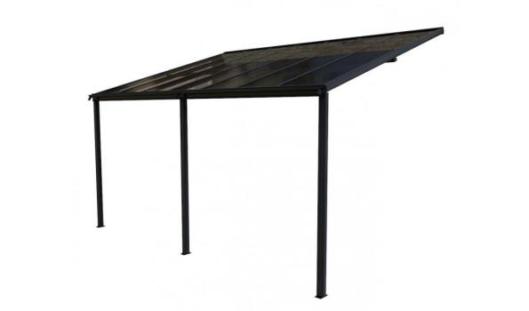Veranda aluminium 7016 met polycarbonaatplaten Helder