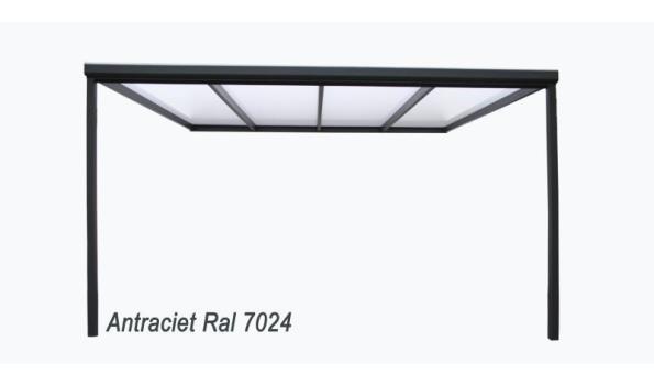 Veranda aluminium RAL 9001 met polycarbonaatplaten Helder of Opaal