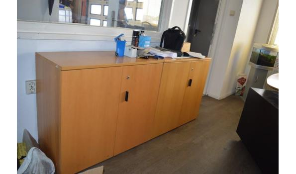 Bureauopstelling, dressoir en kasten