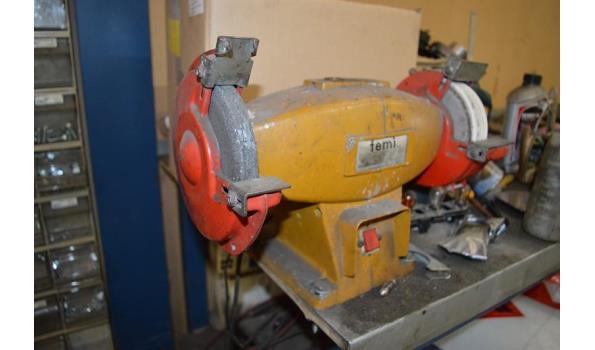 Werkbank slijpsteenmachine