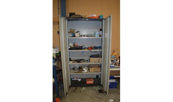 Werkplaatskast, ijzer incl. inhoud