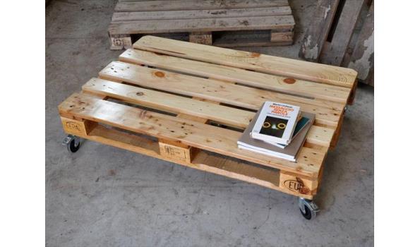Bekend Pallet tafel New look, 80x 120 cm, met wielen 200 mm | ProVeiling.nl AJ39