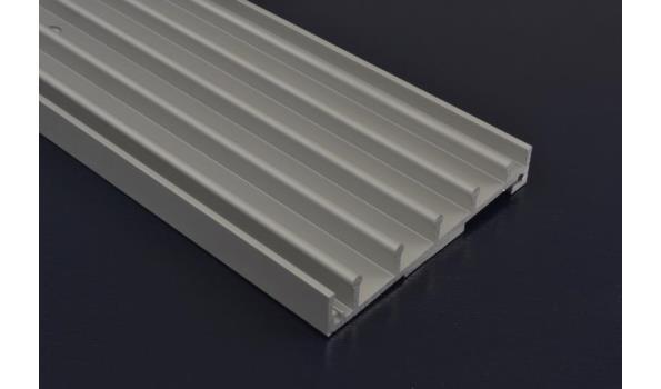 Tuinkamer schuifdeur systeem set 4900 mm RAL 9016 wit