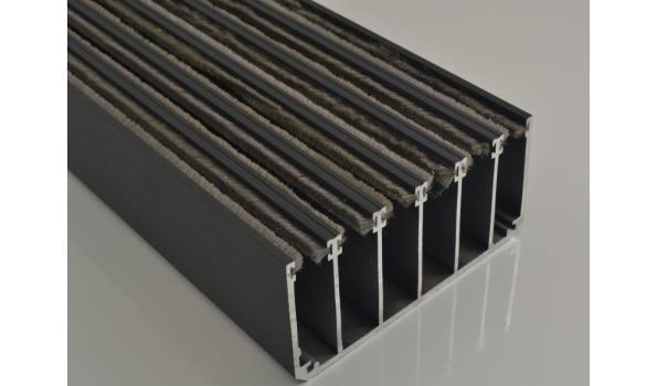 Tuinkamer schuifdeur systeem set 5900 mm RAL 9001 crème wit
