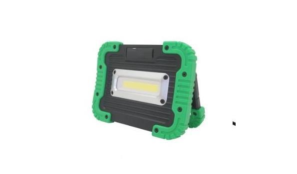 Ledstraler COB 10 watt, USB oplaadbaar 5x