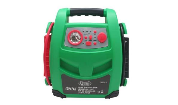 Jumpstarter 12 V 17AH + compressor + usb + lamp