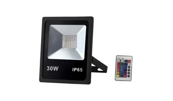 LED straler, wit en RGB, met afstandsbediening