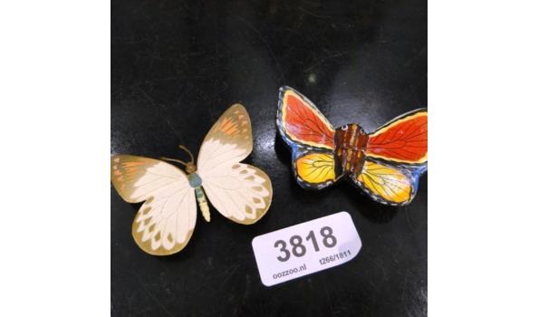 Vlinders hout en kunststof
