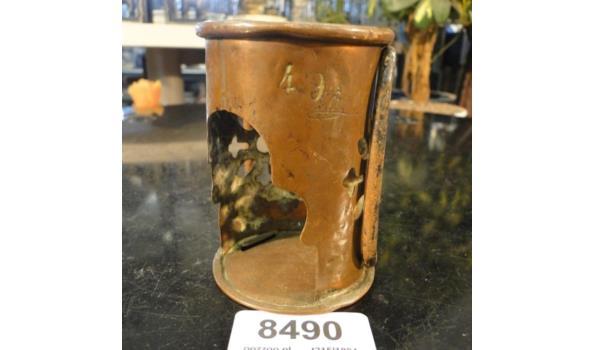 Bronzen glashouder gesigneerd