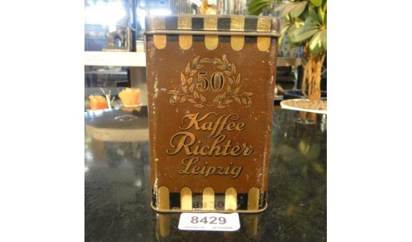 Vintage koffieblik